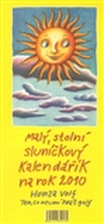 Malý stolní sluníčkový kalendářík na rok 2010