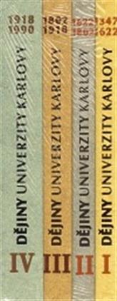 Dějiny Univerzity Karlovy soubor 1.,2.,3.,4. díl