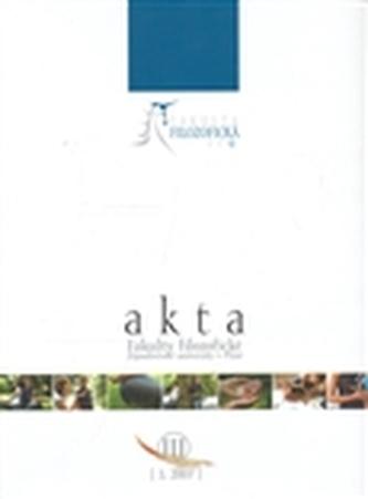 Akta Fakulty filozofické Západočeské univerzity v Plzni 3/2007