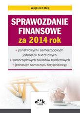Sprawozdanie finansowe za 2014 rok