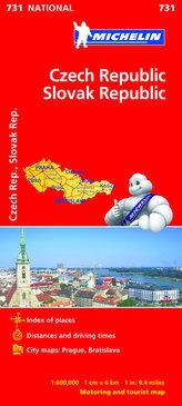 Czechy i Słowacja 1:600 000