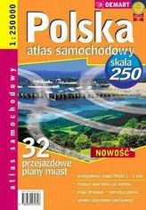 Polska 1:250 000 32 przejazdowe plany miast Atlas samochodowy