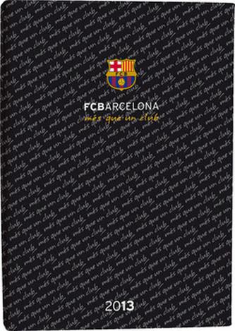 Diář A6 Lyra denní FCBarcelona černý 2013