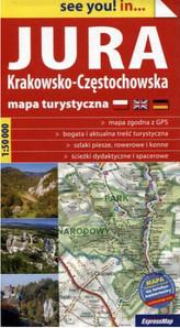 Mapa turystyczna. Jura Krakowsko-Częstochowska.  1:50 000