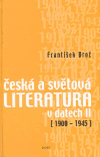 Česká a světová literatura v datech II 1900-1945