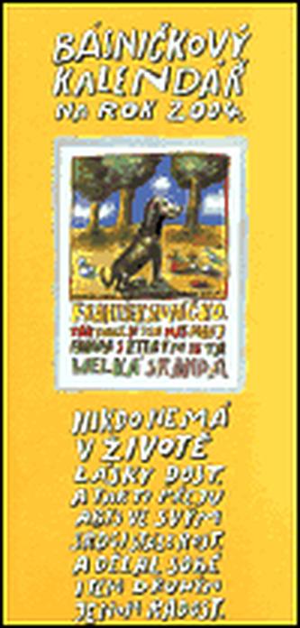 Básničkový kalendář na rok 2004