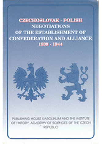 Czechoslovak -Polish negotiations of the establishment of conf