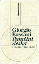 Pamětní deska v Mazziniho ulici