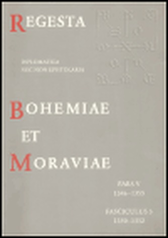 Regesta Boheiae et Moraviae V/3