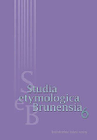 Studia etymologica brunensia 1