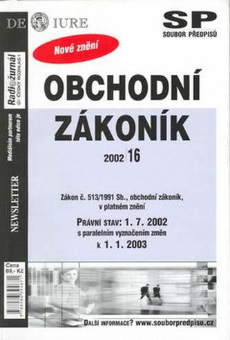 Obchodní zákoník k 15.11.2002
