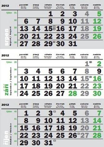 Tříměsiční 2012 - nástěnný kalendář