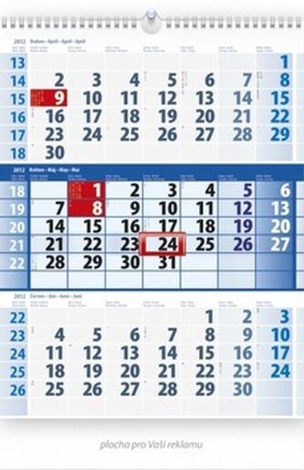 Tříměsíční modrý - nástěnný kalendář 2012