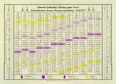 Lunární kalendář Krásné paní Jednolistý nástěnný 2012