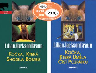 Balíček 2ks Kočka, která uměla číst + Kočka, která shodila bombu