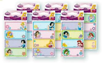 Samolepky Jmenovky Disney Princezny
