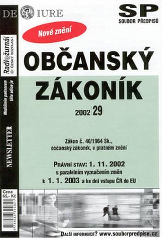 Občanský zákoník Právní stav k 1.1.2003