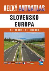 Veľký autoatlas Slovensko Európa