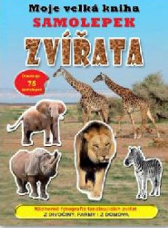 Moje velká kniha samolepek Zvířata