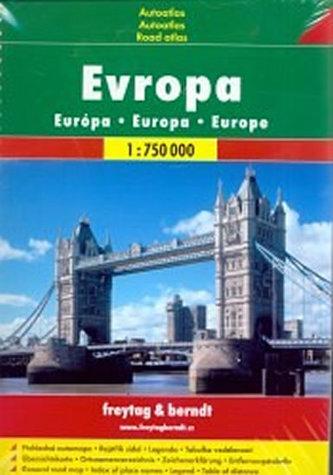 Evropa - autoatlas spirála 1:750T