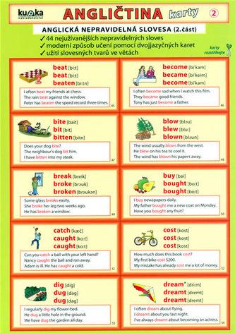 Angličtina karty 2 - nepravidelná slovesa