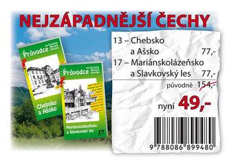 Nejzápadnější Čechy - Balíček průvodců (13-Chebsko a Ašsko, 17-Mariánskolázeňsko a Slavkovský les)