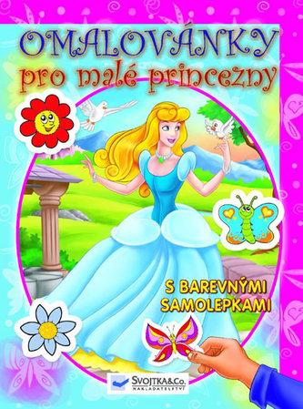 Omalovánky pro malé princezny - s barevnými samolepkami