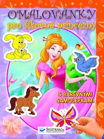 Omalovánky pro šikovné princezny - s barevnými samolepkami