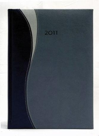 Diář 2011 Frisco denní A5 - tmavě modrá/modrá/stří