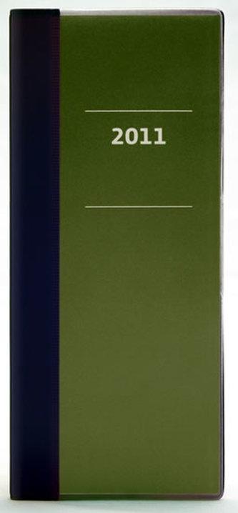 Diář 2011 kapesní - Milano měsíční - espresso