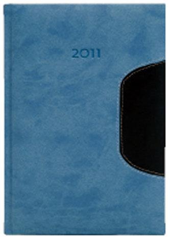Diář 2011 Memphis denní A5 - světle modrá/modrá