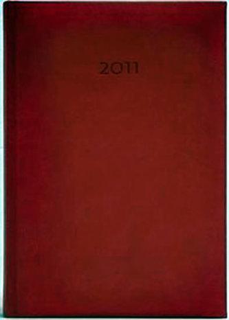 Diář 2011 Print denní A5 - červená
