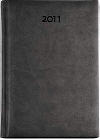 Diář 2011 Print denní A5 - šedá