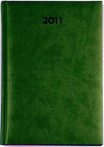 Diář 2011 Print denní A5 - zelená