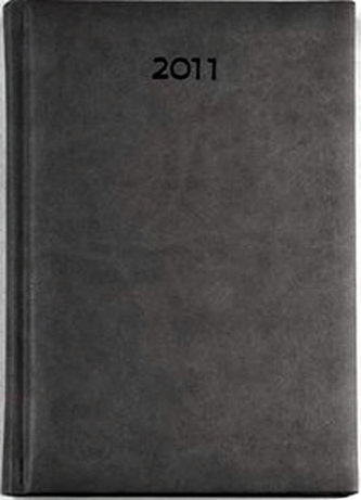 Diář 2011 Print týdenní kapesní - šedá