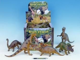 Dinosaurus 26-36cm 12druhů 12ks v DBX