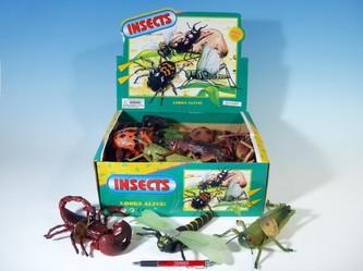 Hmyz 13-23cm 8druhů 24ks v DBX