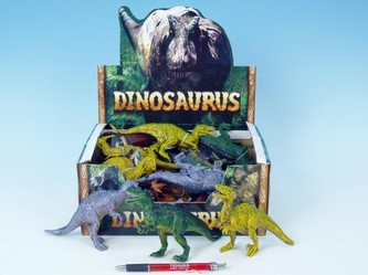 Dinosaurus 14-17cm kovová barva 12druhů 24ks v DBX