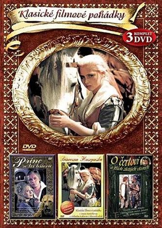 Klasické filmové pohádky I. - Princezna Husopaska, Princ se lví hřívou a O čertovi a třech zlatých vlasech -3DVD