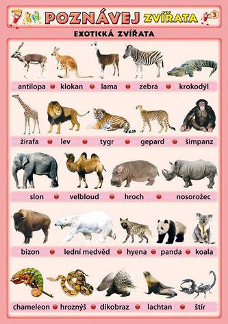 Poznávej zvířata - Exotická zvířata