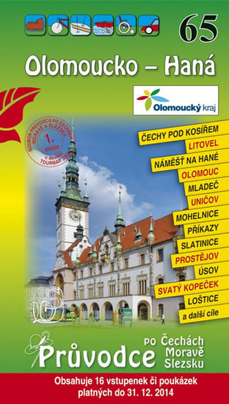 Olomoucko - Haná 65. - Průvodce po Č,M,S + volné vstupenky a poukázky