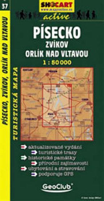 Písecko, Zvíkov, Orlík nad Vltavou - 1:50000 tur. mapa