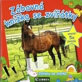 Zábavná knížka se zvířátky - Zvířátka na statku - puzzle