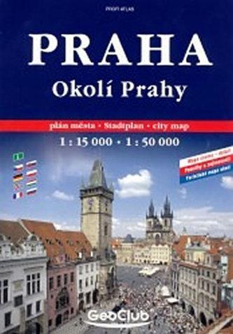 Praha a okolí - atlas A4 - spirála