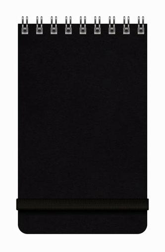 Notes Libertas - černý, čtverečkovaný 80x130
