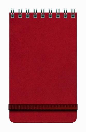 Notes Libertas - červený, čtverečkovaný 80x130