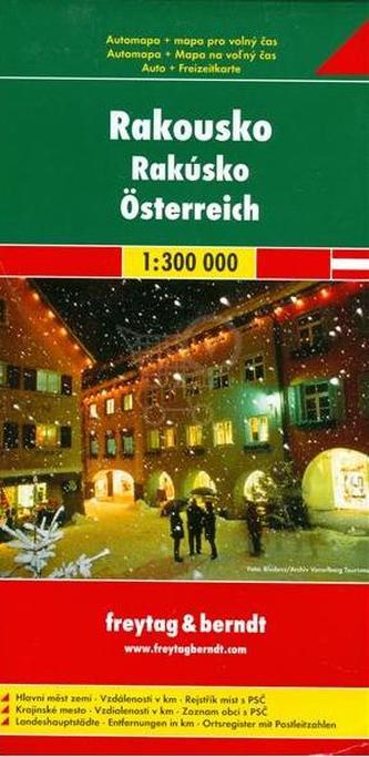 Rakousko 1:300 000 (automapa)
