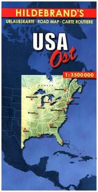Hildebrand's Urlaubskarte USA, Ost. USA, the East. USA l'Est