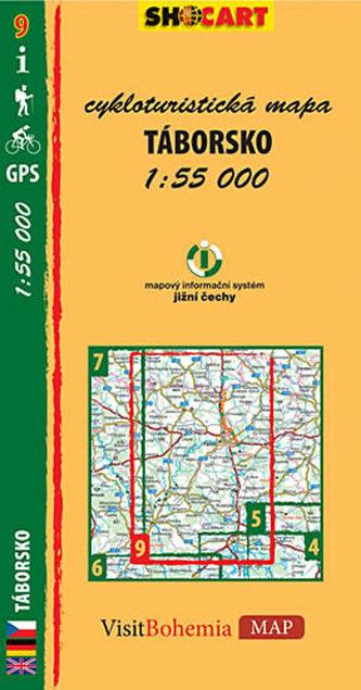 Táborsko - cykloturistická mapa č. 9 /1:55 000 - neuveden