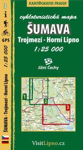 Šumava - Trojmezí, Horní Lipno - cykloturistická mapa č. 3 /1:25 000